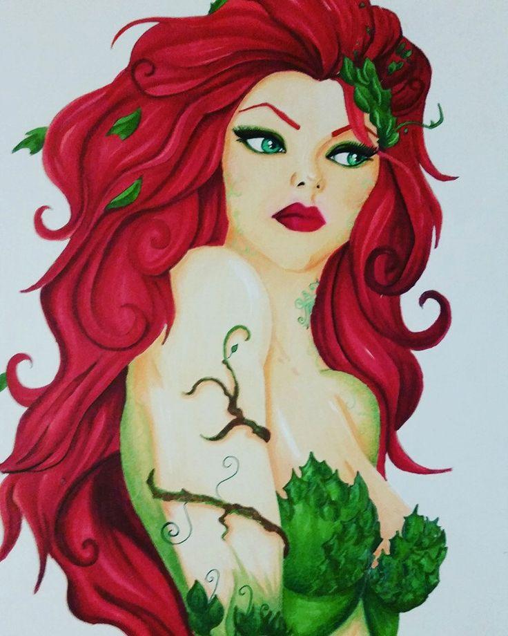 Poison Ivy - DC comic fan art print by LostNfantasy on Etsy