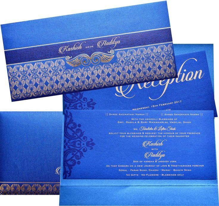 US 1939B Designer invitation in Royal Blue color