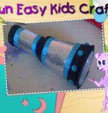 Toddlers pirate telescope craft