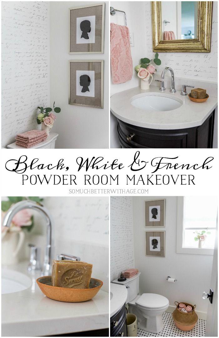 Inspiration Web Design Black White u French Powder Room Makeover