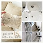 The Best 15 Cleaning Tips.  Try the lemon on hard water stains!