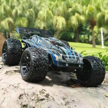 JLB Racing CHEETAH 1/10 Brushless RC Car Truggy 21101 RTR      Description:        Brand: JLB Racing Truggy RTR Item No.: 121101 Scale: 1/10 Color: As the picture    ESC: Brushless 80A Motor: Brushless 3670 2500KV 4pole Waterproof Servo: Waterproof...