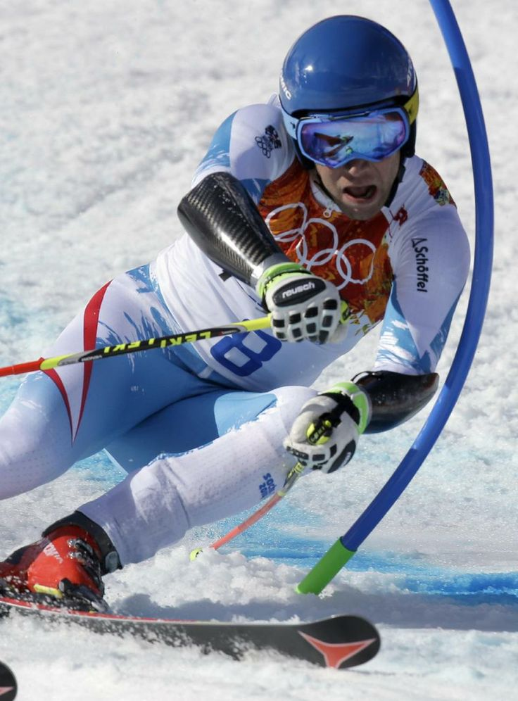 DAY 13:  Benjamin Raich of Austria competes  during the Alpine Skiing Men's Giant Slalom http://sports.yahoo.com/olympics