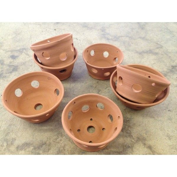 Terracotta Ceramic Orchid Pot