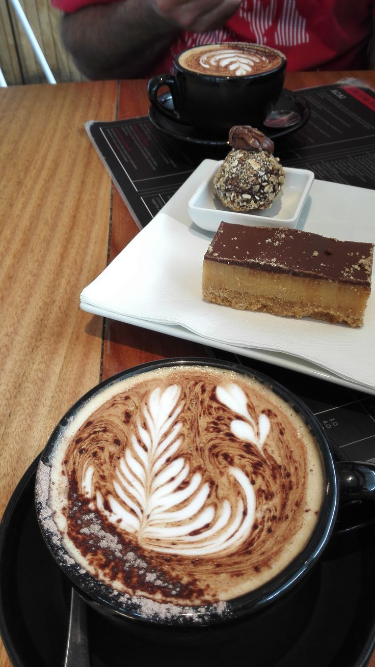 At Babyycino, Point Cook Town Centre. A caramel slice for him and a healthy ball…