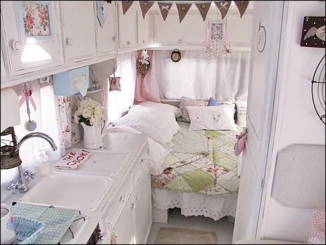 adorable camper interior ...bright fun colors