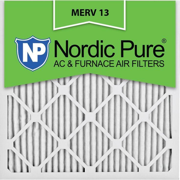 Nordic Pure14x14x1 Pleated Merv 13 AC Furnace Air Filters Qty 12, Black tobacco
