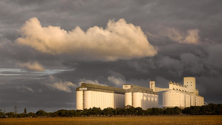 https://flic.kr/p/JwUvZa | Late afternoon sun... | ...following rain. Port Giles grain silos, Yorke Peninsula, South Australia