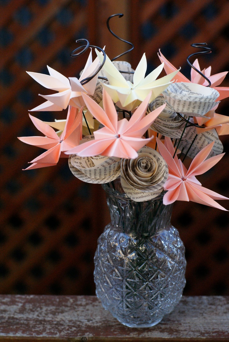 Love Story - Origami Bouquet via Etsy.