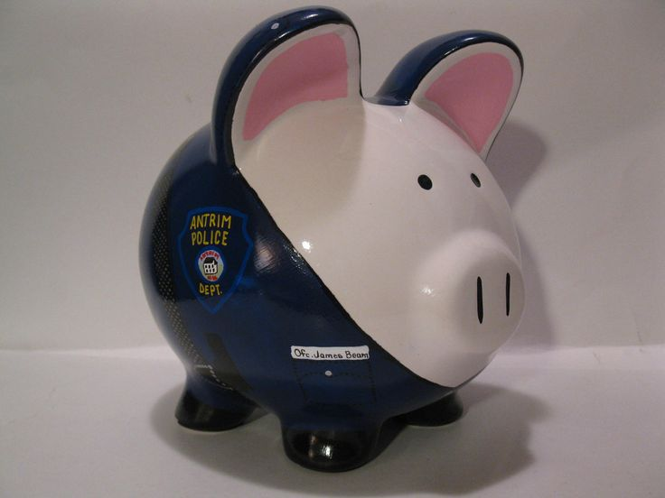 "Police Officer ""Pigs"" Piggy Bank - MADE TO ORDER. $40.00, via Etsy."