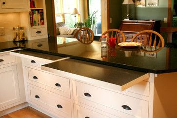 7 Kitchens with seriously clever hideaway counter space drawer pulls