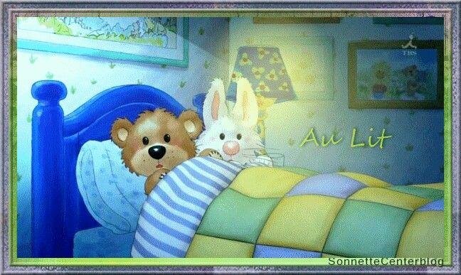 Открытки анимационные доброй ночи с мишками