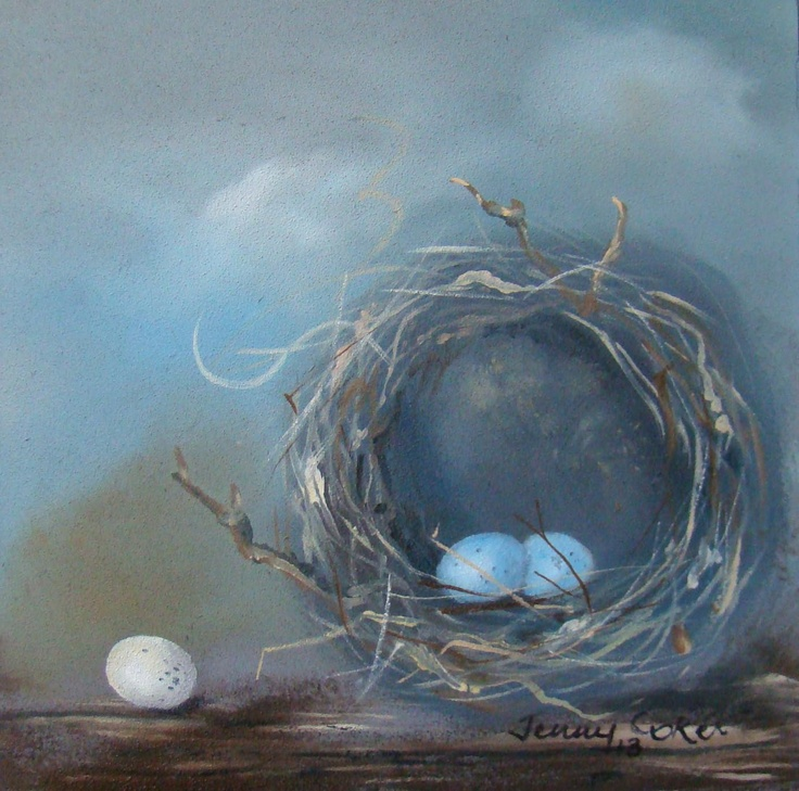 Nestling | Original Oil Painting | 100mm x 100mm