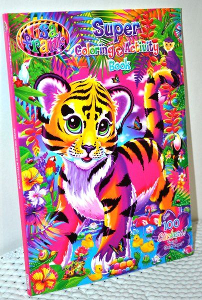 Lisa Frank 7-Piece Lot Puzzle Keeper Dress Up Dolls Activity Color Books Stickers