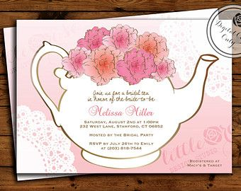 Best Tea Party Invitation Inspirationtemplates Images On - Bridal tea party invitation template