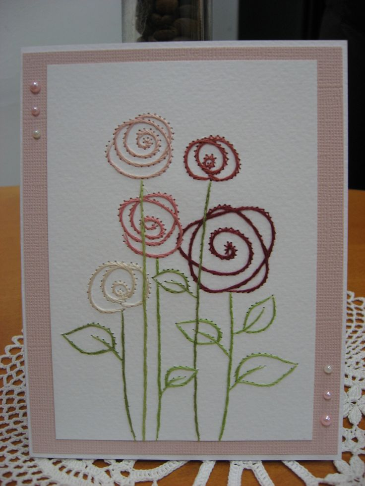 361 Best Cards Embroidery Images On Pinterest Cards Paper