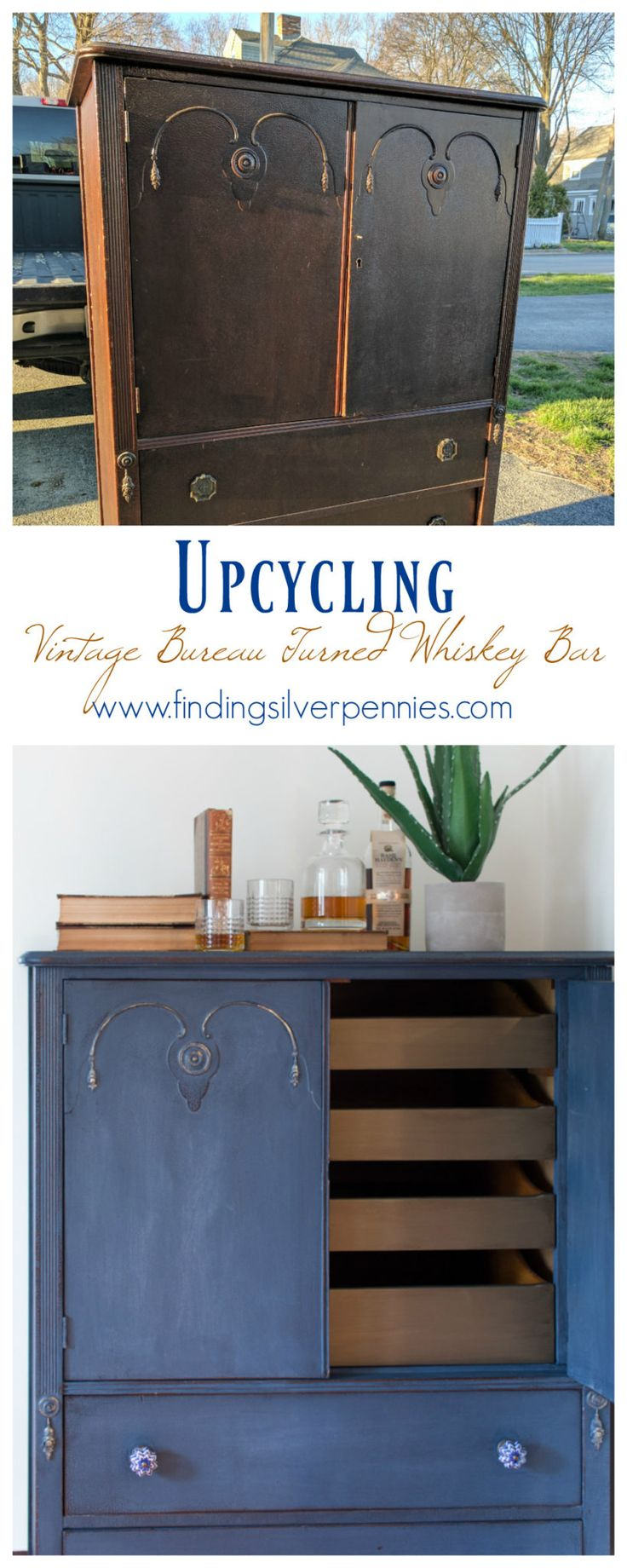 Painting furniture before and after - A Cabinet Dresser Named Hayden