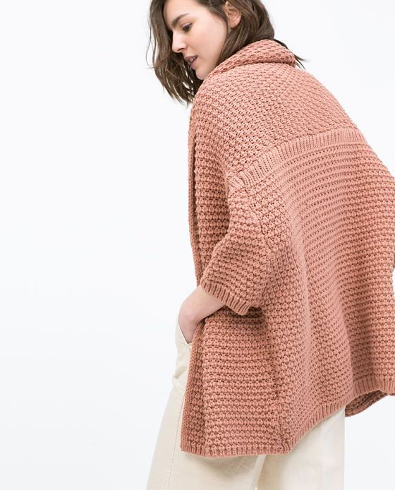 ZARA - ITS MID SEASON - Cardigan à col châle