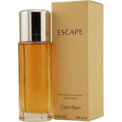 ESCAPE Perfume by Calvin Klein Fragrance Notes: apple, mandarin, rose, plum, peach, and finishes with musk and sandalwood.