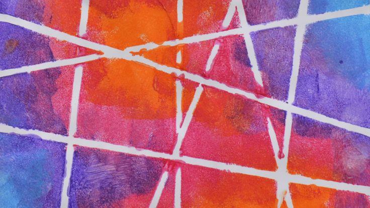 Arte procesual para niños: PINTURA ENMASCARILLADA CON LIGAS