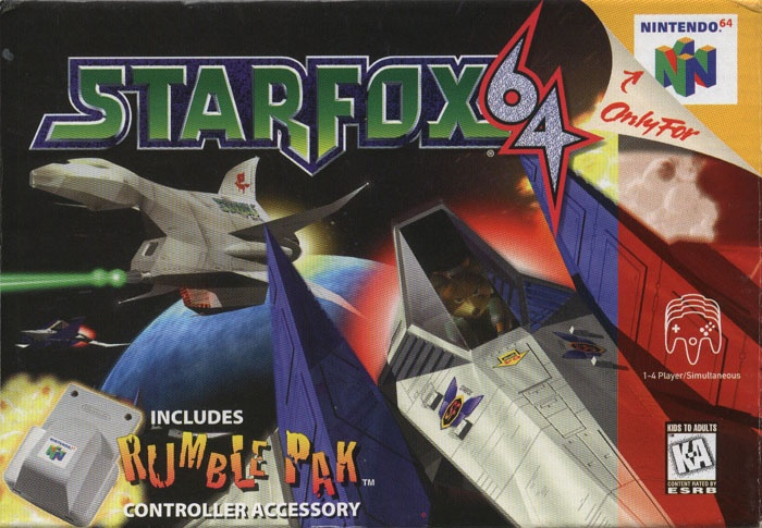 Star Fox 64 (Rokyjuuyon)/Lylat Wars for EU and AU, N64, Nintendo, 1997.