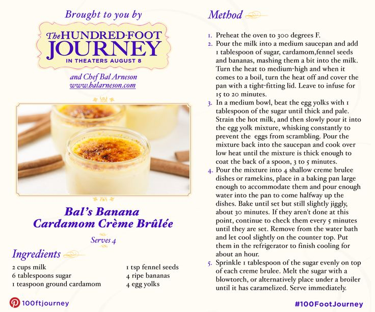 Satisfy your sweet tooth with this recipe for Crème brûlée by Chef Bal Arneson! Tell us if you'll be trying it and see The Hundred-Foot Journey in UK cinemas September 2014 #FoodieFriday