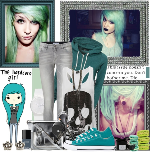 """""""The Hardcore Girl"""" by avenged7x ❤ liked on Polyvore"""