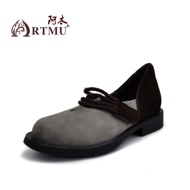 Check lastest price Artmu 2017 Hook Loop Women's Shoes,Gray Single Shoes Fashion Woman Genuine Leather Women Leather lederen ballerina s vrouwen just only $80.75 with free shipping worldwide  #womenshoes Plese click on picture to see our special price for you