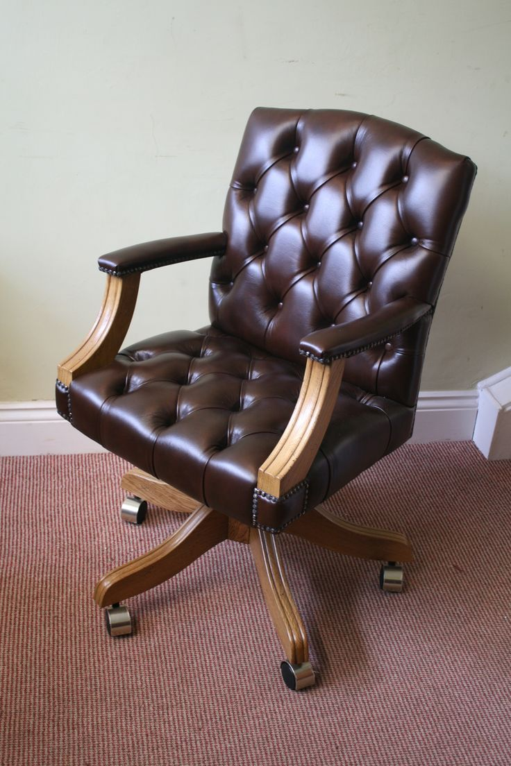 17 Best Images About Traditional Leather Desk Chairs On