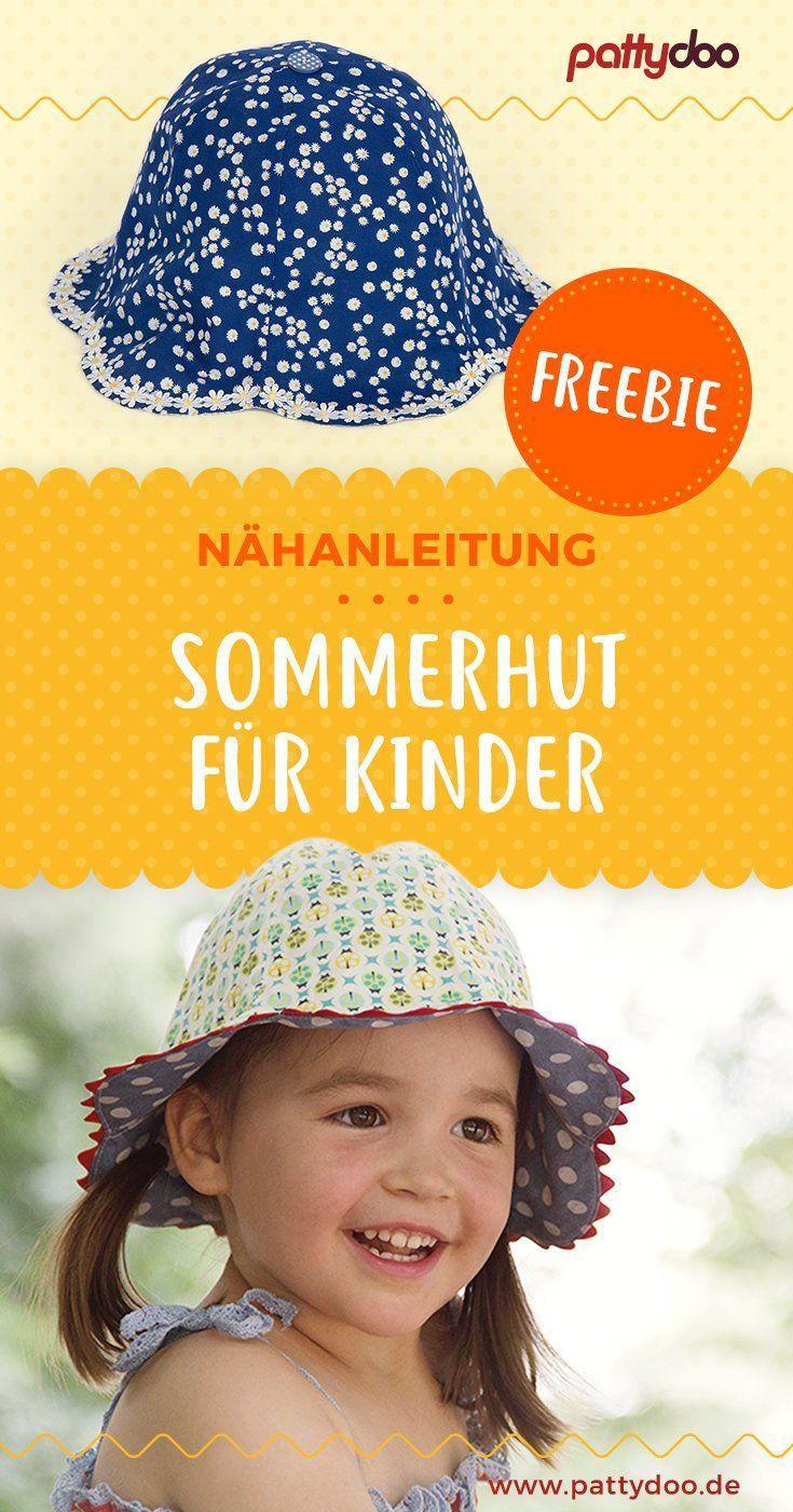 Gratis Schnittmuster Sonnenhut Sommerhut für Kinder