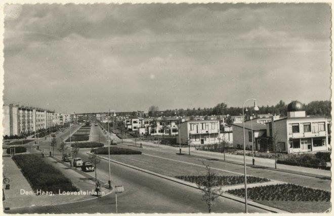 De Loevesteinlaan in Den Haag omstreeks 1959