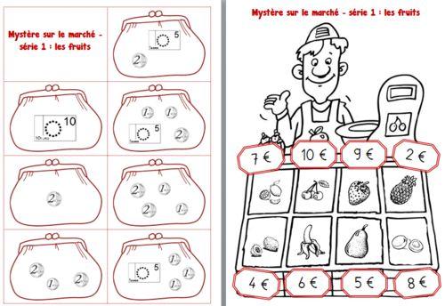 myst re sur le march un jeu sur la monnaie au cp lilipomme rekenen geldrekenen pinterest. Black Bedroom Furniture Sets. Home Design Ideas