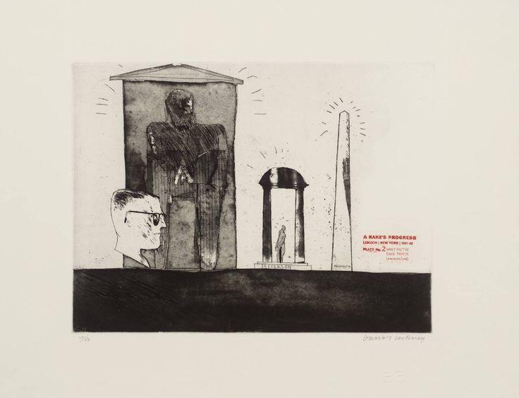 David Hockney '2. Meeting the Good People (Washington)', 1961–3 © David Hockney