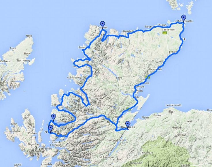 The North Coast 500 route in Scotland runs from Inverness, to the Kyle of…