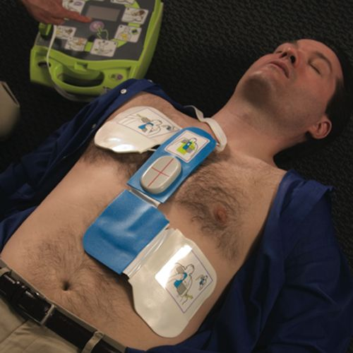 Zoll AED Plus, the first and only full-rescue automated external defibrillator (AED) supports the full Chain of Survival by supporting effective CPR. The fact is, only half of cardiac arrest victims need a shock. The other half require high-quality cardiopulmonary resuscitation (CPR).