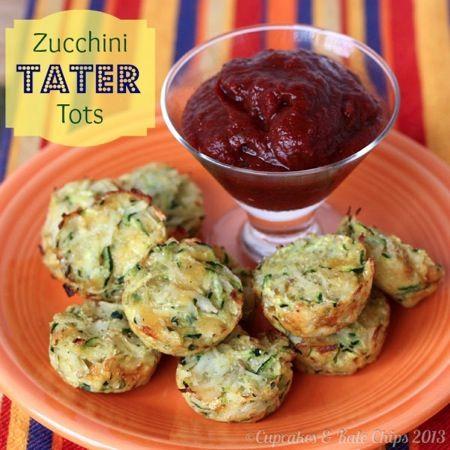 #GlutenFree Zucchini Tater Tots - a childhood favorite, just a bit healthier | cupcakesandkalechips.com #tatertots #vegetarian