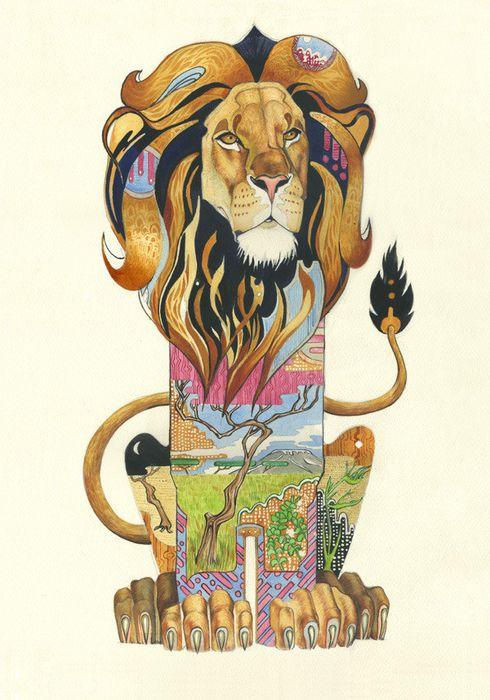 Стилизованная картинка льва