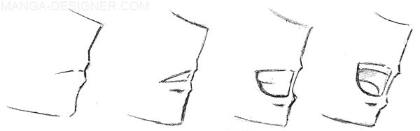 manga female side view - Google Search
