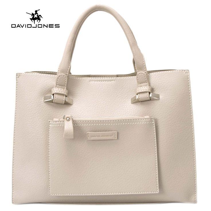 Davidjones Women Pu Bags Handbags Famous Brands Casual Trunk Tote Shoulder Bag Las