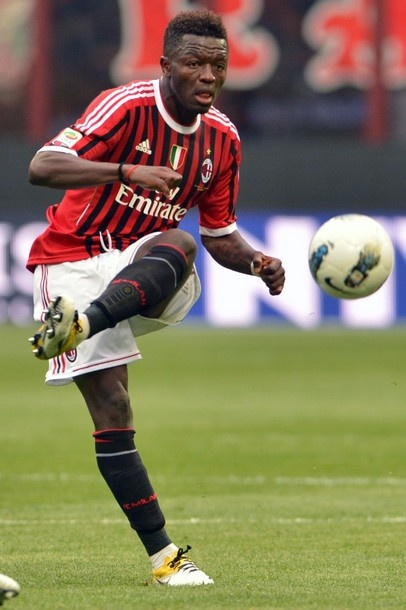 Suleyman Sulley Ali Muntari, (born 27 August 1984 in Konongo) is a Ghanaian professional footballer who currently plays as a central midfielder for Serie A club Milan. Muntari is a member of the Ghana national team. With his career at Internazionale, he has won the Champions League, in 2009–10, and also the Serie A title in 2008–09 and 2009-10.