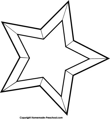 Star Black And White Christmas Clipart - Clipart Kid