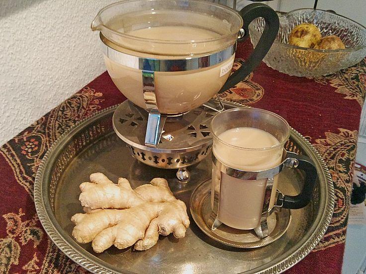 Schwarzer Tee mit Ingwer und Milch, ein tolles Rezept aus der Kategorie Kaffee, Tee & Kakao. Bewertungen: 12. Durchschnitt: Ø 4,2.