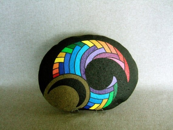Painted rock - 3D Abstract