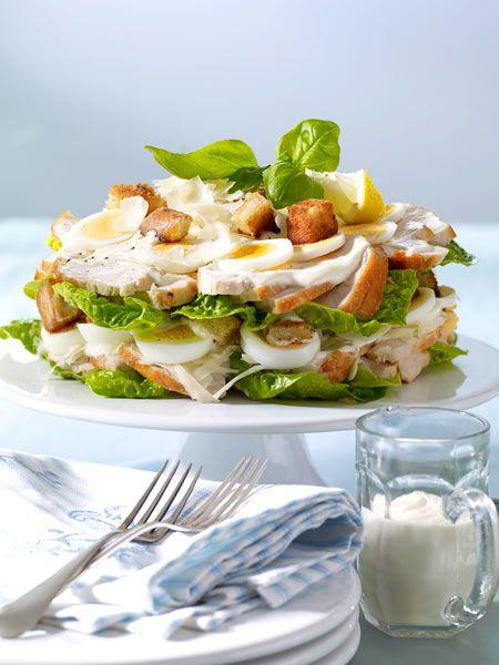 Auch in der Schichtsalat-Variante ein Gedicht: Ceasar's Salad