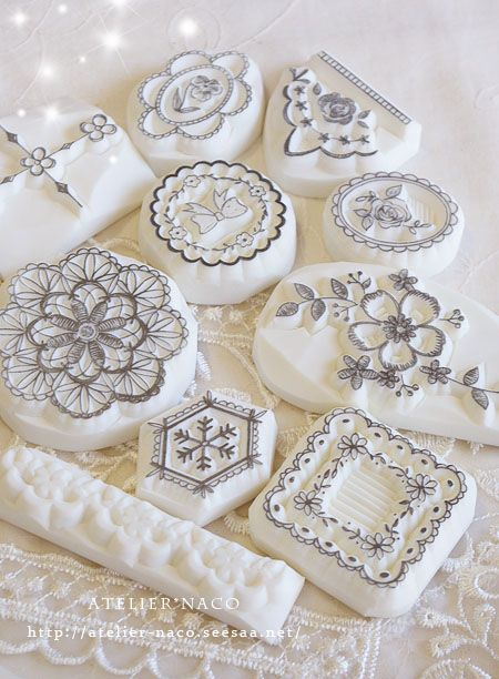 carved rubber stamps