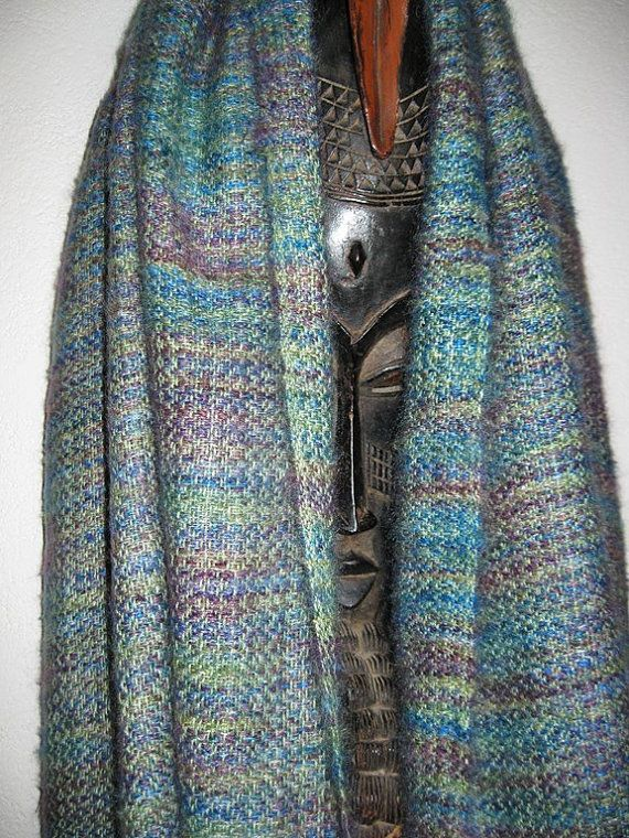 RESERVED 20% REDUCTION Handwoven Kid Mohair and Silk Shawl, Accessories Woven by Tisserande