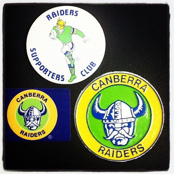 Canberra Raiders supporters memorabilia.
