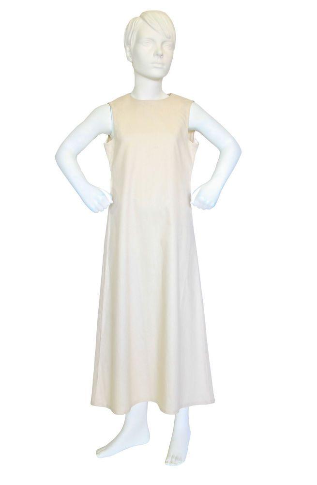 PEACE LILY GIRLS SLEEVELESS CREAM / IVORY LINEN DRESS $59.95 Girls Size 10