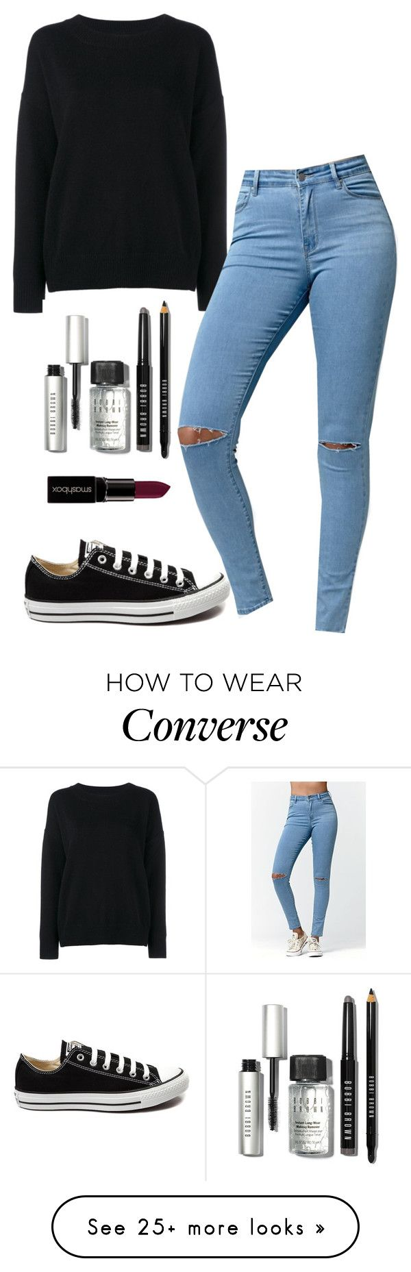 """""""Untitled #251"""" by maya-lm on Polyvore featuring Frame Denim, Bullhead Denim Co., Converse, Bobbi Brown Cosmetics, Smashbox, women's clothing, women, female, woman and misses"""