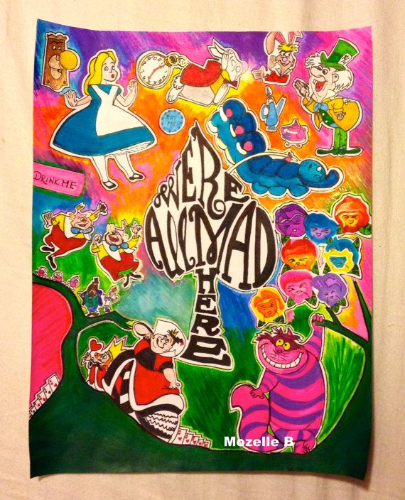 Alice in Wonderland 16 X 20 Poster Print by MozelleB on Etsy, $15.00 #aliceinwonderland #poster #aliceinwonderlandprint